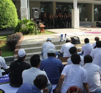 Third Day Rally Action of Save JICT-Koja: Collective Pray at JICT Front Office