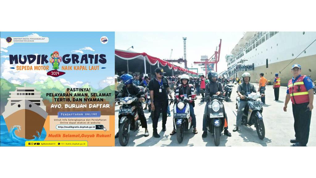 Mulai Dibuka Pendaftaran Online Mudik Gratis Sepeda Motor 2019 dengan Kapal Laut
