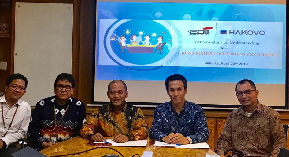 MoU EDII And Hakovo: Cross-Border Documents Exchange for Indonesia Customs Clearance Process