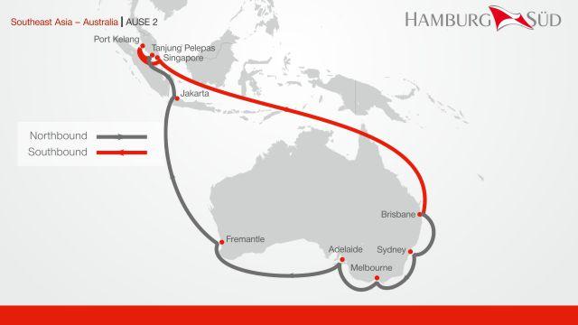 Hamburg Süd : Enhanced service between Southeast Asia and Australia