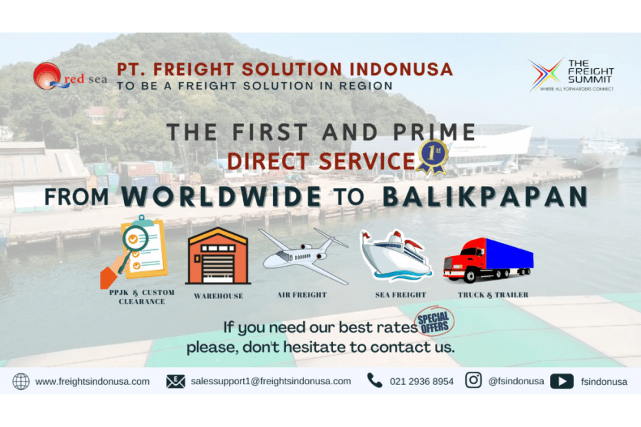 Red Sea Open New Direct Consolidation From Worldwide to Balikpapan