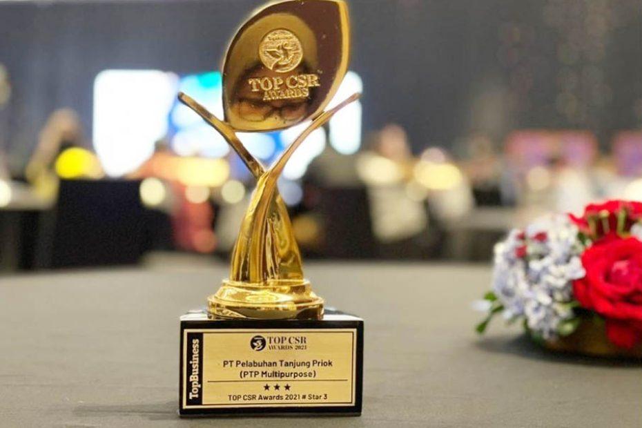 PTP Multipurpose Raih Bintang 3 di Top CSR Awards 2021