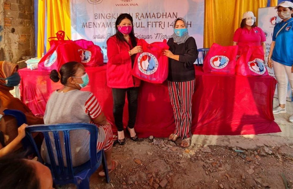 'WIMA INA Peduli', Bantu Sembako Nelayan Marunda