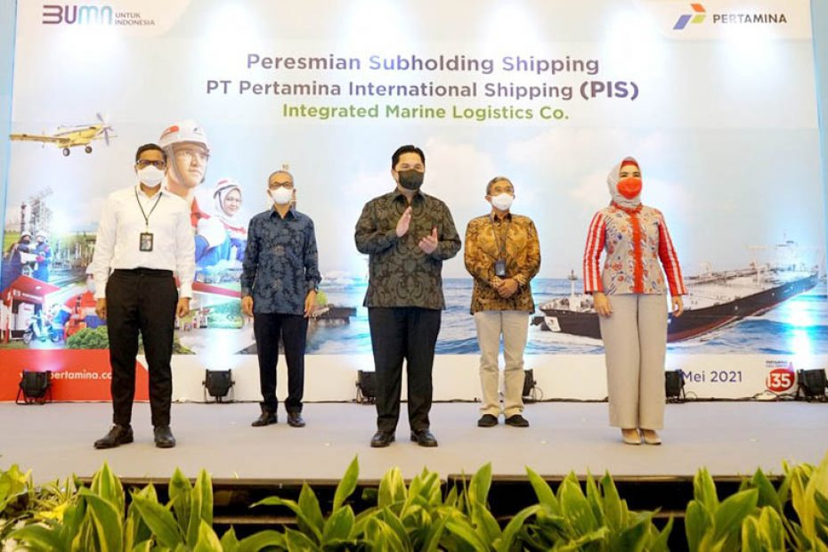Erick Thohir Announces PT Pertamina International Shipping as The Company's First Subholding Shipping Company