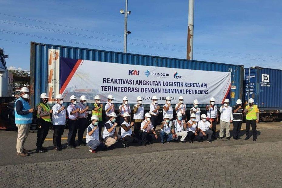 Logistics Players Applaud Reactivation of Jakarta-Surabaya KA Logistics