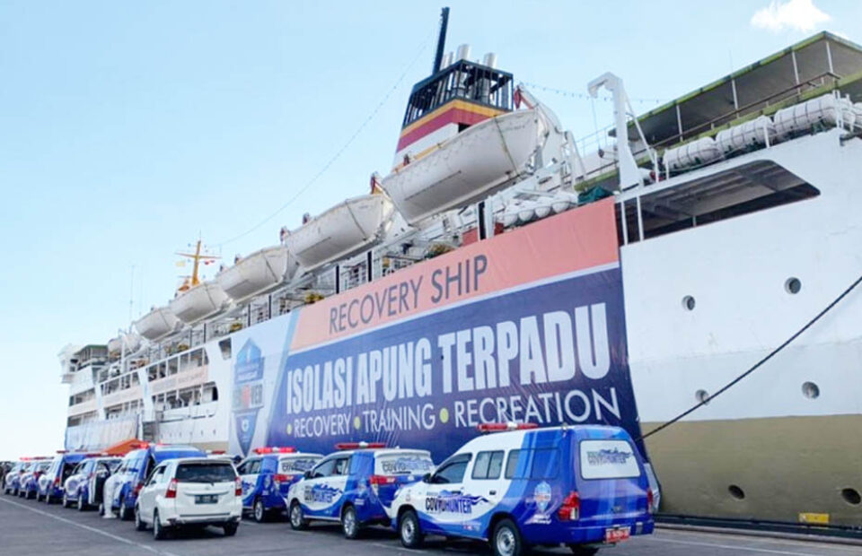 KM Umsini Resmi Jadi Lokasi Isolasi Apung Kota Makassar